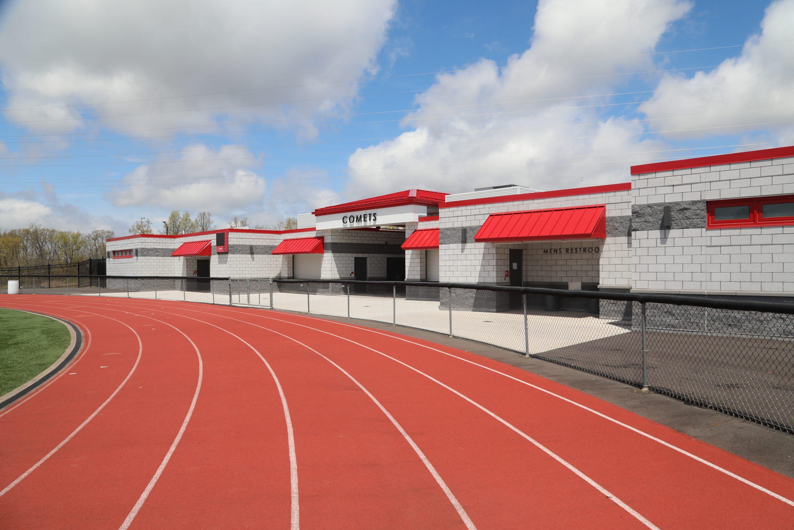 Track and Field House built by Troianiello Masonry, inc